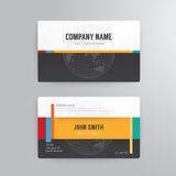 Business card template modern abstract concept design. Royalty Free Stock Photography