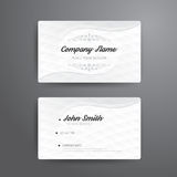 Business card template modern abstract concept design. Royalty Free Stock Images