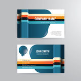 Business card template modern abstract concept design. Stock Photography