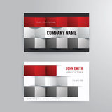 Business card template modern abstract concept design. Royalty Free Stock Photos