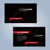 Business card template. Red and Black Stock Images