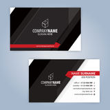 Business card template. Red and Black Royalty Free Stock Images