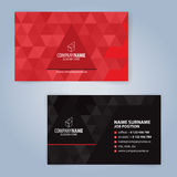 Business card template. Red and Black Stock Photos