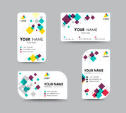 Business card template for replace name with mosaic concept. vec Stock Image