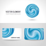 Business card template set, abstract blue circle Royalty Free Stock Photography