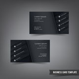 Business Card template set 030 black and dark Stock Photo