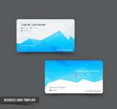 Business Card template set 52 blue and geometry element for mode. Rn business concept vector illustration Royalty Free Stock Photo