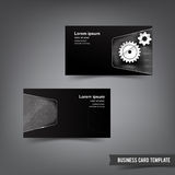 Business Card template set 035 chrome and metal element vector i Stock Photo