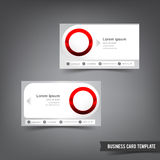 Business Card template set 034 clear style dot element Stock Image