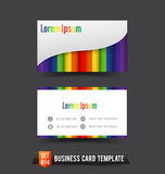 Business Card template set  014 Colorful Rainbow element Stock Photography