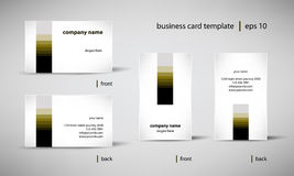 Business card template set. Creative business card template set, editable vector illustration Royalty Free Stock Image