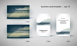 Business card template set Stock Image