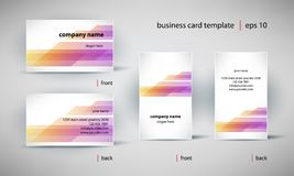 Business card template set. Creative business card template set, editable vector illustration Stock Photos