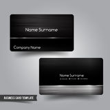 Business Card template set 55 Dark metal and steel element  vect Stock Photo