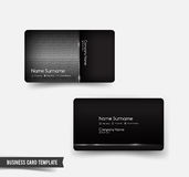 Business Card template set 53 Dark metal and steel element  vect Stock Photography