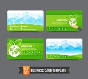 Business Card template set  007 Ecology concept. Eco concept  business card template vector illustration Stock Photos