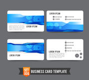 Business Card template set  006 Gear technology concept  busines Stock Images