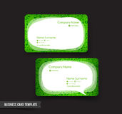 Business Card template set 52 green grass and speech bauble. Element for modern business concept vector illustration eps10 Stock Photography