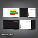 Business Card template set  045 Grey white color with mini four Royalty Free Stock Images