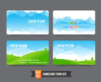 Business Card template set  003 Royalty Free Stock Photography