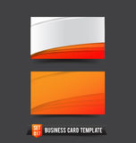 Business Card template set  017 Orange curve Royalty Free Stock Image