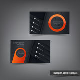 Business Card template set 029 orange and dark layer Royalty Free Stock Images