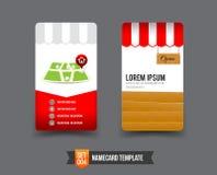 Business Card template set 004. Shop and market concept business card template vector illustration vector illustration