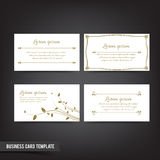 Business Card template set  041 Vintage Clear and minimal design Stock Photos