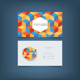 Business card template. Simple clean layout Stock Images