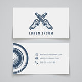 Business card template. Spark plug logo Stock Photo