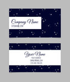 Business card template with stars Stock Photo