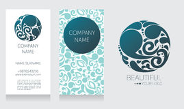 Business card template and template for your logo Royalty Free Stock Image
