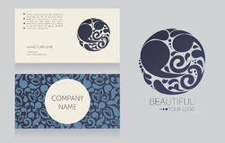 Business card template and template for your logo Stock Photos