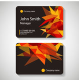 Business card template vector illustration, Stock Images