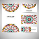 Business card template. Vector illustration in Royalty Free Stock Image