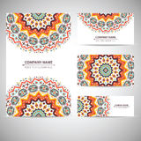 Business card template. Vector illustration in Stock Image