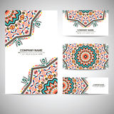 Business card template. Vector illustration in Royalty Free Stock Photography
