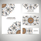 Business card template. Vector illustration in native style Stock Photo