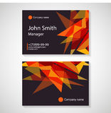 Business card template vector illustration Stock Images