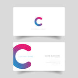 Business card template vector simple Royalty Free Stock Photo