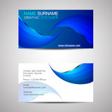 Business card template or visiting card Royalty Free Stock Image