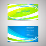 Business card template or visiting card Royalty Free Stock Images