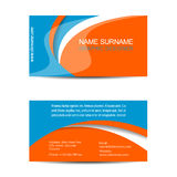 Business card template or visiting card Royalty Free Stock Photo