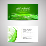 Business card template or visiting card Royalty Free Stock Photography
