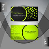 Business card template or visiting card set Royalty Free Stock Photos
