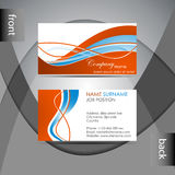 Business card template or visiting card set Stock Image