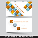 Business card template or visiting card set Royalty Free Stock Image