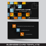 Business card template or visiting card set Stock Photos