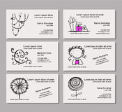 Business card template for your design Royalty Free Stock Photos