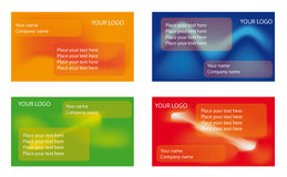 Business card templates. A collection of 4 corporate business card templates Stock Image